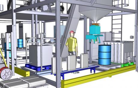 Continue industriële deegbereiding en -verwerkingsinstallatie
