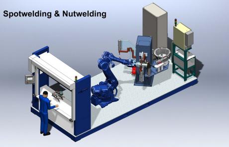 Ontwikkeling van een robotcel voor het bewerken van harde materialen met grote