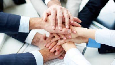 handen samenwerking