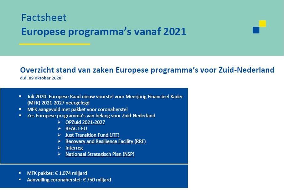 Afbeelding van factsheet stavaza Europese programma's vanaf 2021