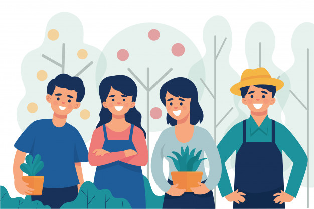 Afbeelding jonge landbouwers